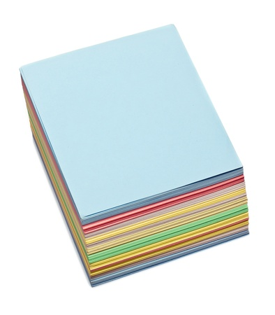 sheets of colored paper to make notes Stock Photo - 12173090