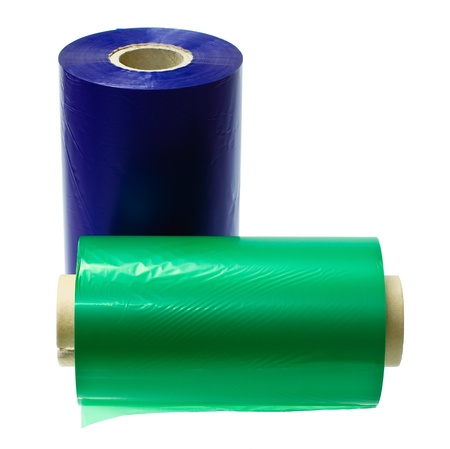 polyester: two rolls of thermal transfer  Stock Photo
