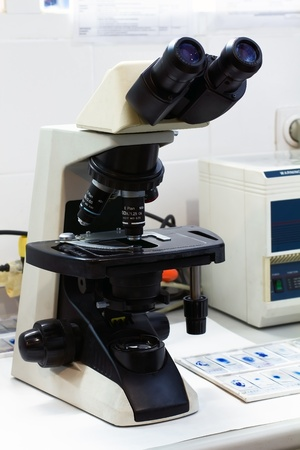 professional microscope in a microbiology laboratory Stock Photo - 13830342