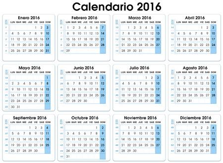 fiestas: calendar vertical 2016. Spanish. 12 months, indicating number weeks  calendar 2016. Spanish. with weeks and parties