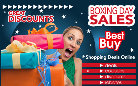 boxing day: Generic Brochure design template inviting shopping on Boxing Day trade  abstract flyer for shopping on Boxing Day trade