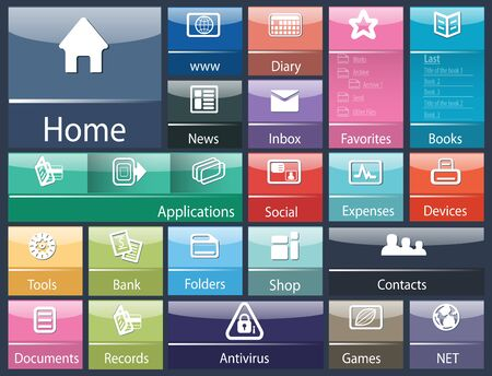 interface design: abstract user interface generic for computer  Generic interface software design template for device digital