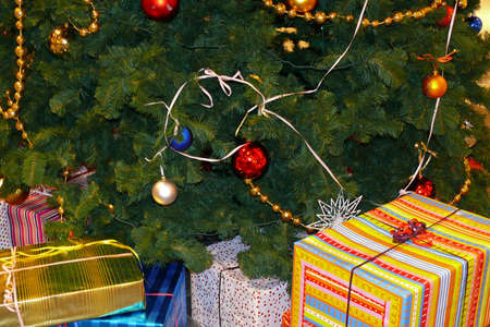 Christmas tree with gifts photo