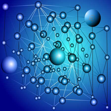 lineas rectas: Bolas azules con l�neas rectas