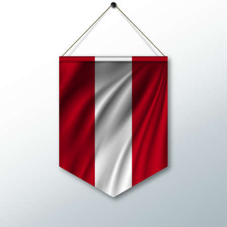 The National Flag Of Peru The Symbol Of The State In The Pennant