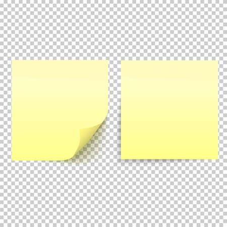 Gelbe Stick Hinweis auf transparenten Hintergrund isoliert Standard-Bild - 81964148