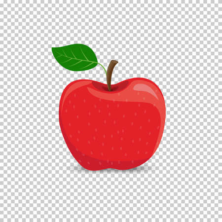 Red apple on a transparent background