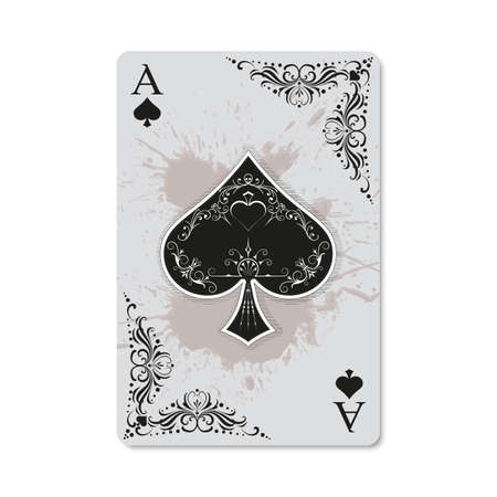 Ace of spades vintage and retro style