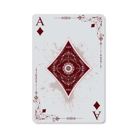 Ace of diamonds vintage retro style