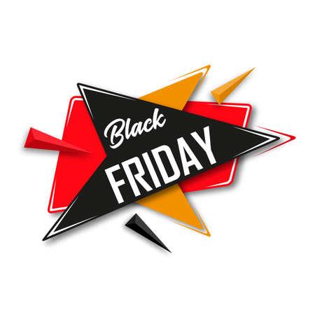 grand sale sticker: Black Friday. Sale banner template design. Vector illustration.