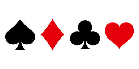 Suit deck of playing cards on white background. Vector illustration. 免版税图像 - 95431373