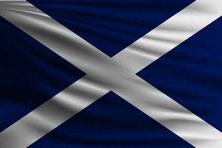 The national flag of Scotland realistic vector illustration.