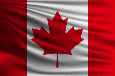 The National Flag Of Canada The Symbol Of The State On Wavy