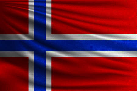 The national flag of Norway.