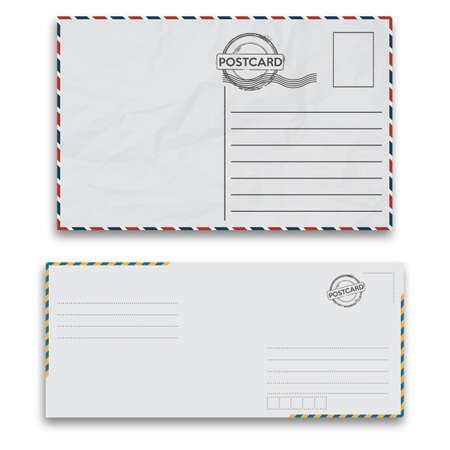 Mail envelopes with seal on white background. Vector illustration. Illustration