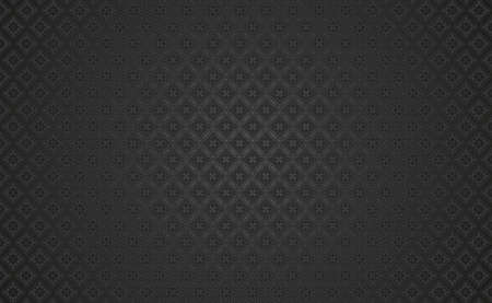 Dark mode background for website design, poker applications and casino. Black background with clubs symbol. Vector illustration.