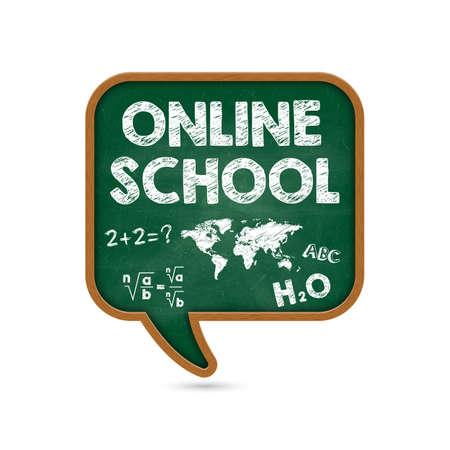 Promotional banner online education. Back to school. Vector illustration.