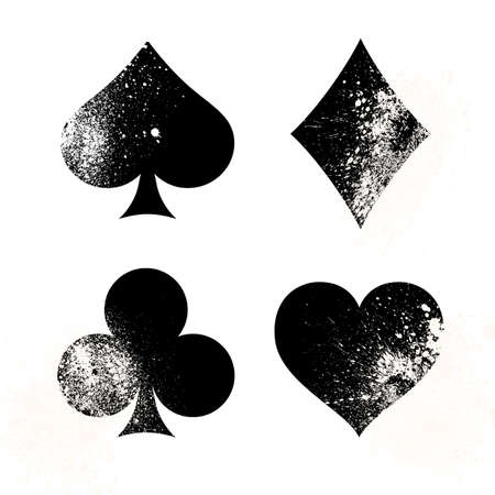 Signs and symbols deck of cards for poker and casino. Vector illustration.