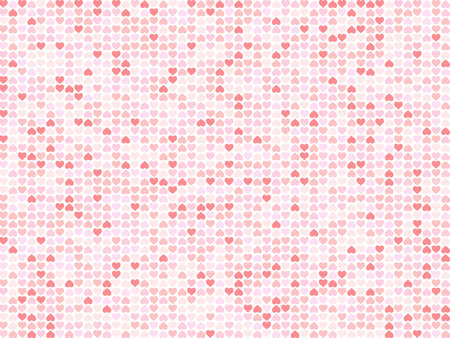Happy Valentine's Day background. Romantic pattern from hearts on a white background. Vector illustration.
