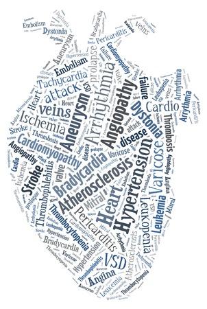 thrombocytopenia: Heart disease. Cardiovascular disease. Heart of words. Arrythmia