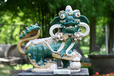 Chinese art sculpture Kilen or dragon photo