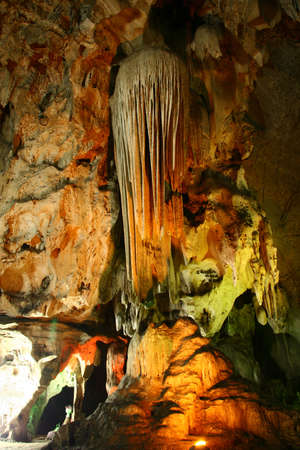 stalactites and stalagmites in a cave General Field Marshal, Ratchaburi
