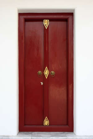 Chinese style red door Stock Photo