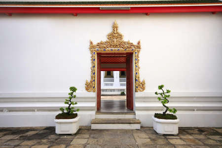 Thai arched entrance in Wat Pho temple,Bangkok, Thailand