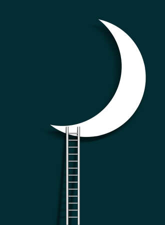 Moon and ladder