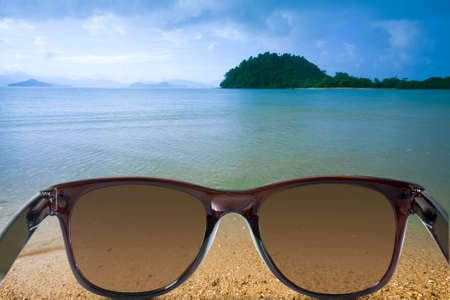 Sunglasses on the seascapes