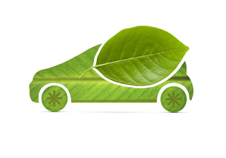 Eco Car on leaf  Stock Photo - 20438289