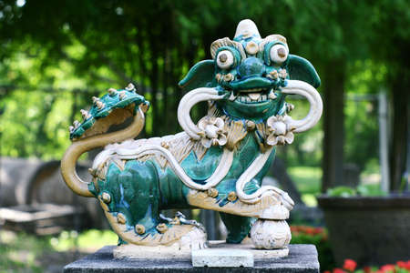 Chinese art sculpture Kilen or dragon photo