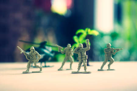 soldiers: miniature toy soldiers on board