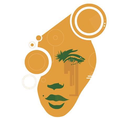 ojos llorando: Amarga dulce tecnolog�a en una de los a�os 70 estilo techno.