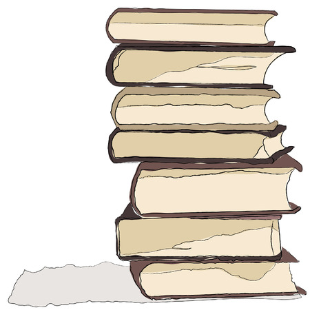hard cover: An illustration of some books.