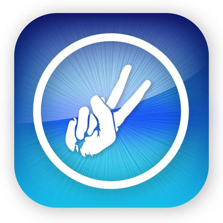 Iphone のアイコンまたはボタン。