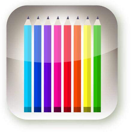 colored pencils: A illustration of colored pencils