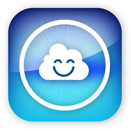 An illustration of a cloud smiling