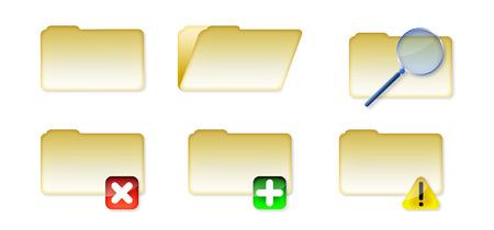 Illustrations of windows style folders. Vettoriali