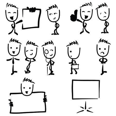 Business-Mann Abbildung Strichmännchen-Zeichnung Standard-Bild - 20386919