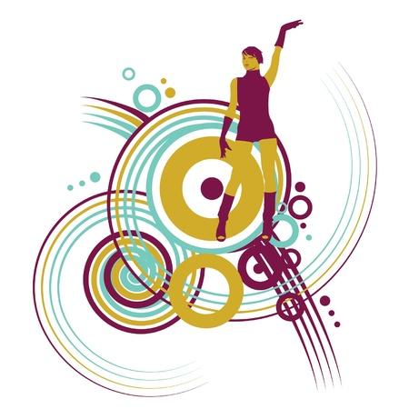 go go dancer: Go Go dancer with swril designs