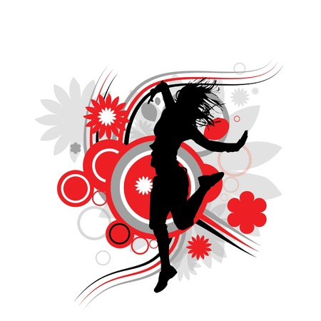 Fille qui danse à la musique Banque d'images - 20438824