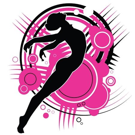 modern: Ballet girl Illustration
