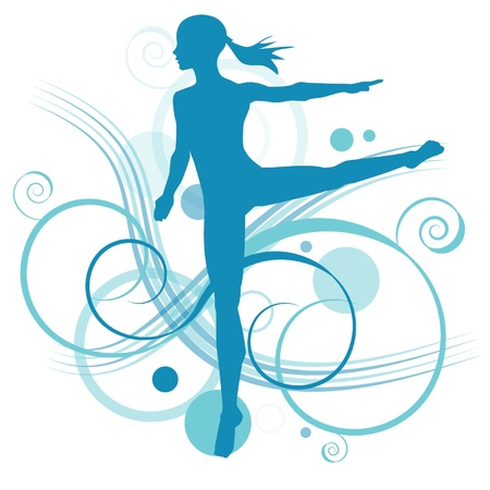 Girl performing ballet Vector