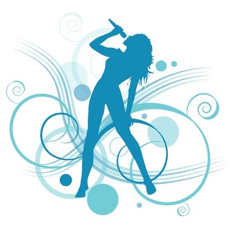 feminino: mulher cantando