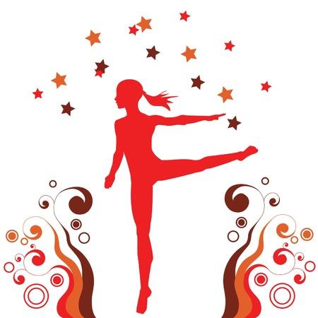gymnastic dance freestyle