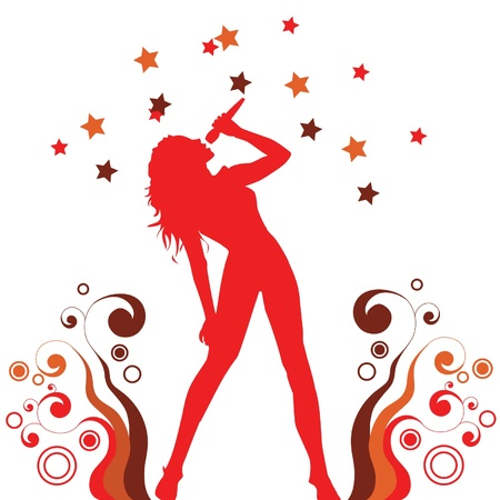 singing woman Ilustrace