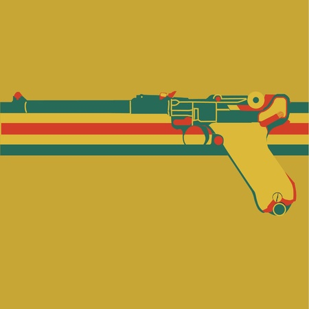 pistol luger Stock fotó - 20438737