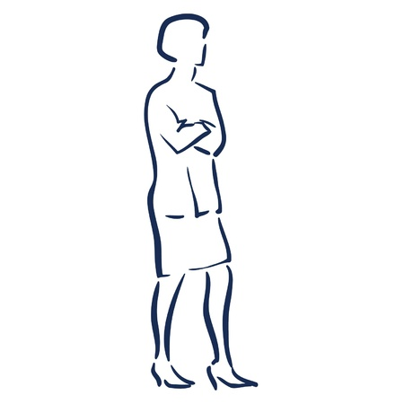 Business woman folding arms