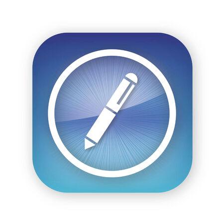 pen app button icon Иллюстрация